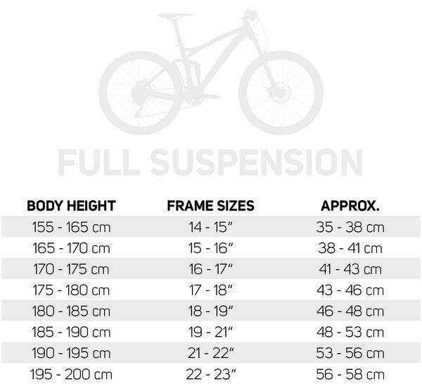 Frame Sizes | Noida Cycling Club